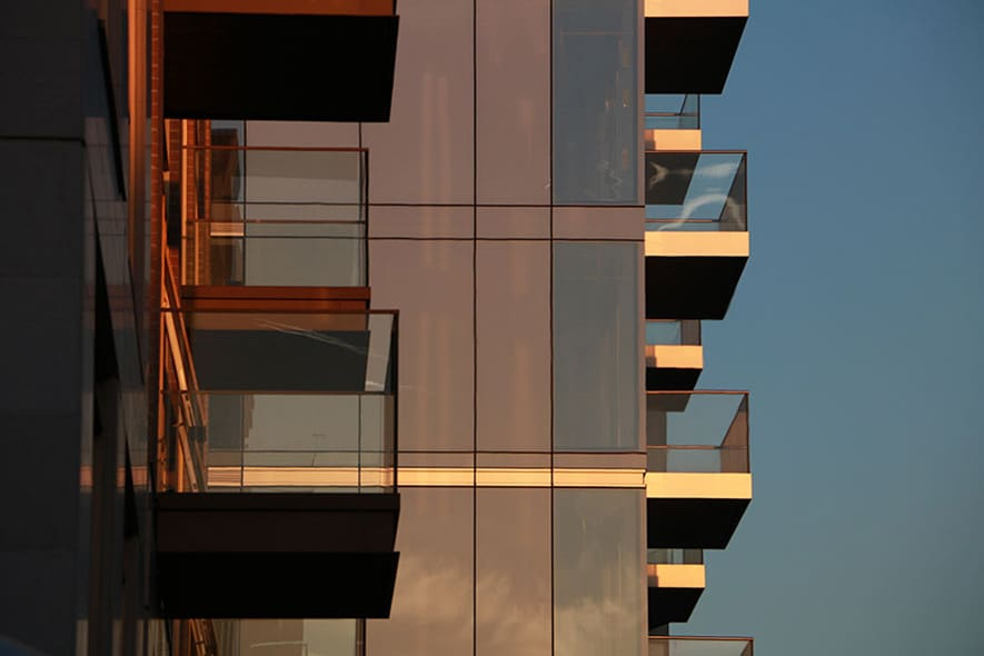 Cassette balconies by Sapphire are rigid, ready and right for rapid install at West London Lillie Square
