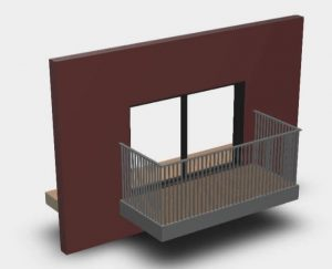 BIM output generated by balcony configurator
