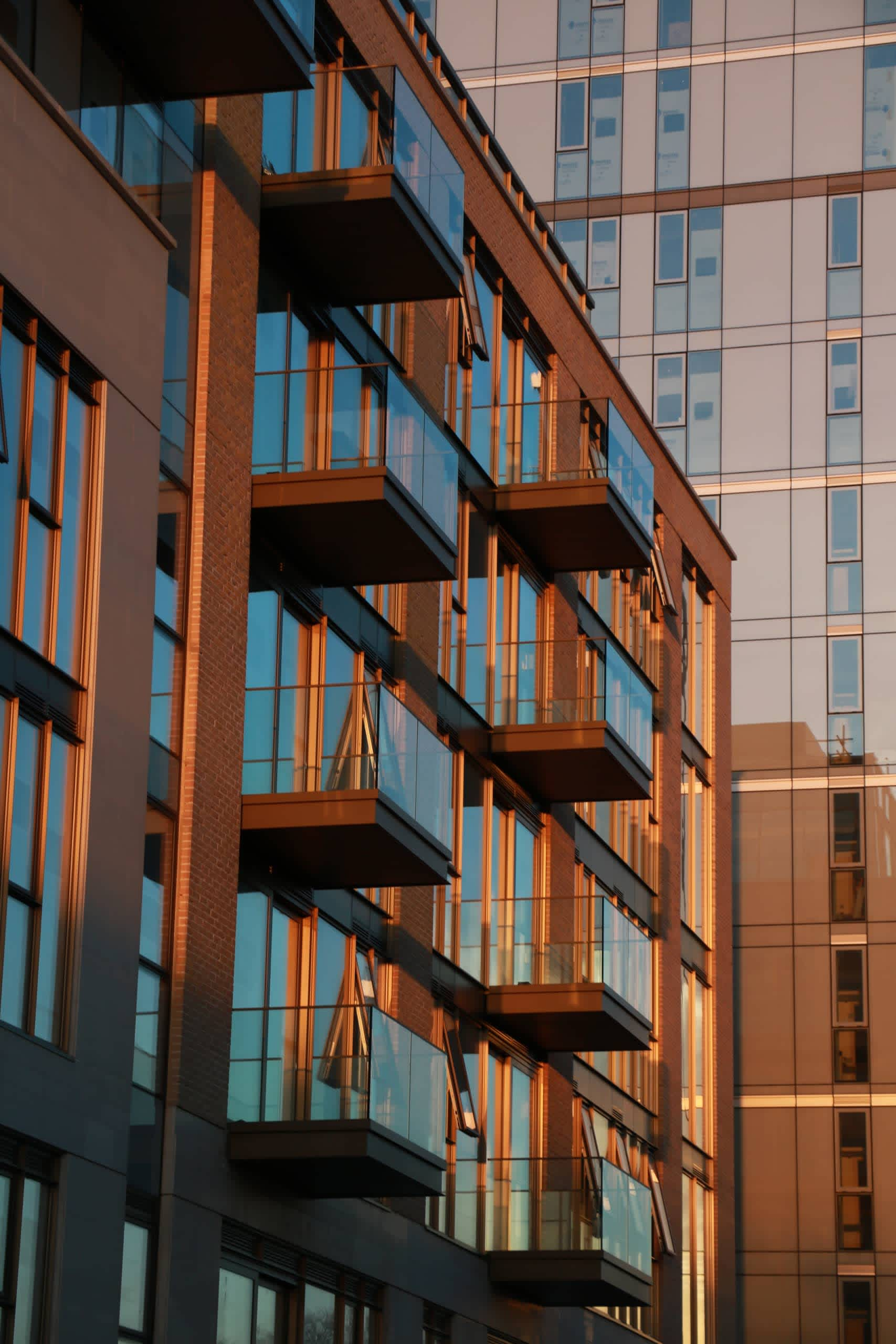 Lillie Square Balconies at Sunset